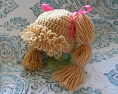 Cabbage patch inspired hair hat wig