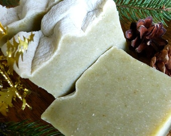 Christmas Soaps, Holiday Soap, 'Christmas Forest,' Balsam & Fir, Homemade Soap, Natural Vegan Soap