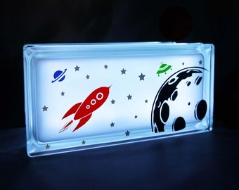 Space theme kids GloBlock night light