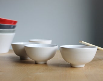 Sushi dipping bowls Soy sauce dish White mini bowls Japanese ispiration - ready to ship