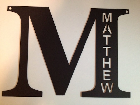 Large Metal Letters For Wall Items Similar To Letter Large 14 Tall Personalized Metal Wall