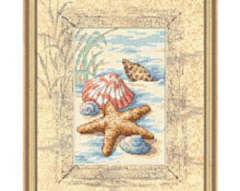 Cross Stitch Kit - Shells in the Sand