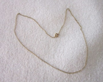 Vintage 12K Gold Filled Chain Necklace Pretty