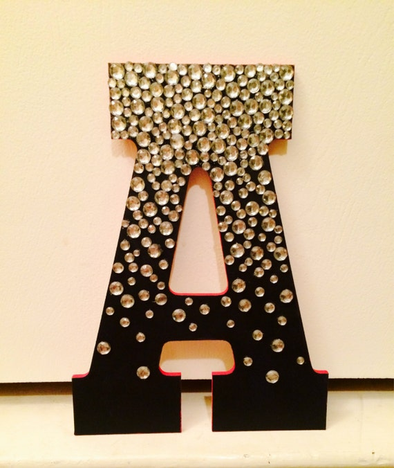 Jeweled wooden letter for Wooden letters for crafts