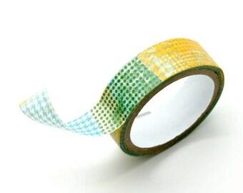 Washi Tape Paper Masking Tape - Houndstooth Polka Dot Pattern
