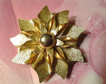 vintage scarf holder costume jewelry flower