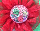 Handmade Hair Flower inspired by THE GRINCH was 5.50