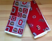 NCAA Ohio State University Buckeyes Cotton Burp Cloth Set of Two