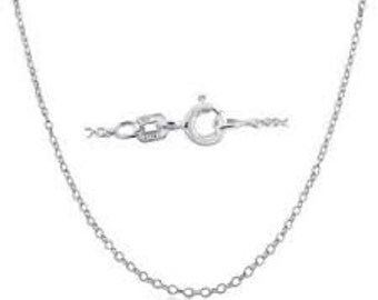 Necklace Chain .925 Sterling Silver Rhodium Finish