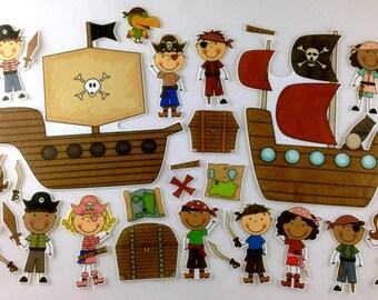 Pirates Felt Board Story Activity Set
