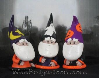 Halloween Gnome for Fairy Gardens OOAK cake topper, ornament handmade miniature