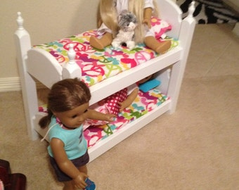 American Girl Bunk beds without mattresses
