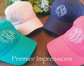 Monogram Caps, Monogrammed Hats. hat, Monogrammed cap, 25 COLOR HATS AVAILABLE with your Initials. Great running cap or knock-around cap.