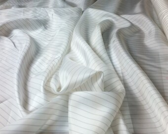 Black and White Striped Lining Fabric- #132 (by the yard)