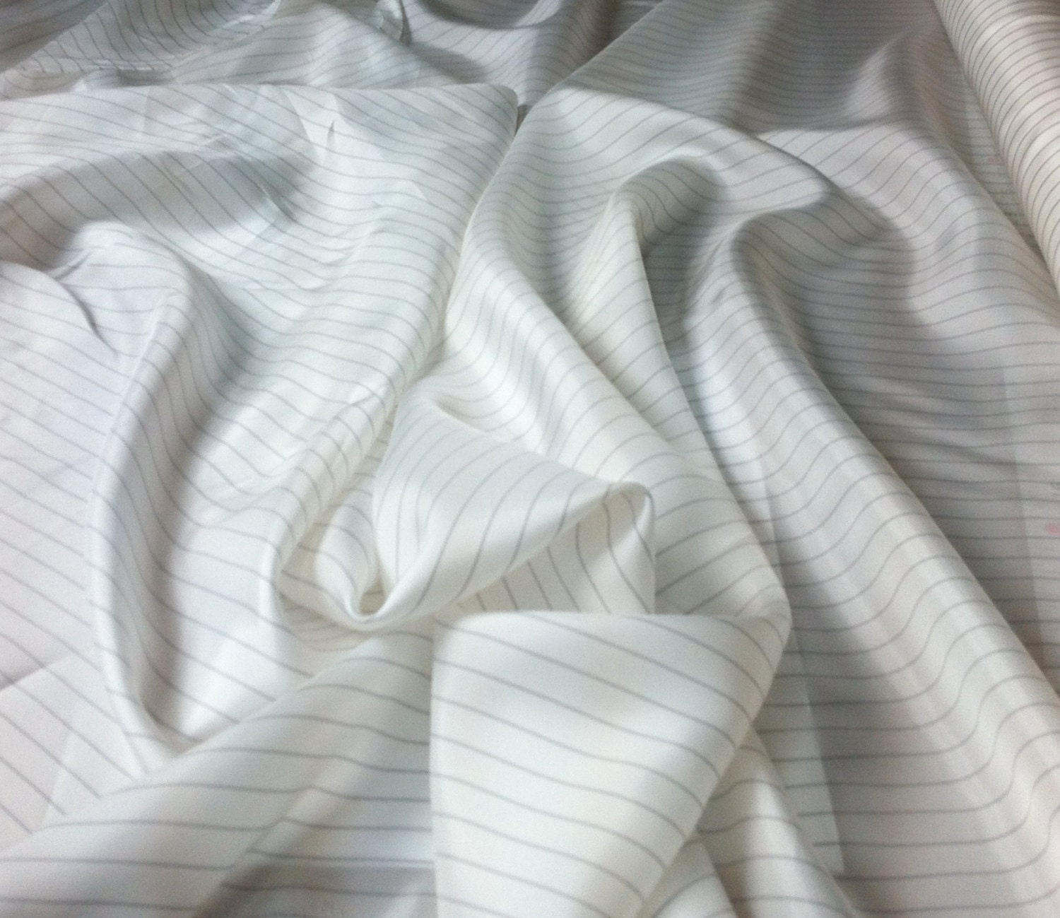 Black And White Striped Lining Fabric 132 By The By