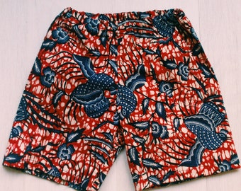 Short - bermuda - printed pants wax