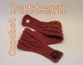 PDF Crochet Pattern - Three Cable Headband - Instant Download