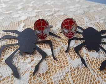 Spider Paper Die Cut With Bonus Spiderman Cuff Links, birthday,wedding,anniversary,groom