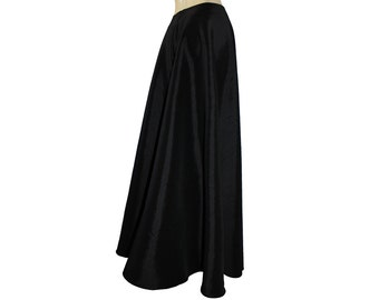 Black taffeta skirt Floor length formal evening maxi skirt XS S M L XL