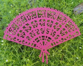 """Tattered Lace Delicate Fan  Die Cuts """"Set of 6""""  Wedding Birthday Card Toppers Embellishments Choose your colors"""