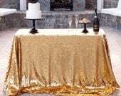 Gold Sequin Tablecloth custom sizes available