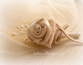 R170 Ivory Boutonniere or corsage - lapel pin groom