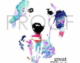Great Dane Dog Art || Milo the Great || Great Dane || Dog Art