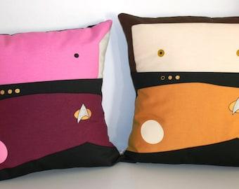 Star Trek TNG inspired Duo Picard  Data pillow cushion cover 40x40 cm 16x16 inches
