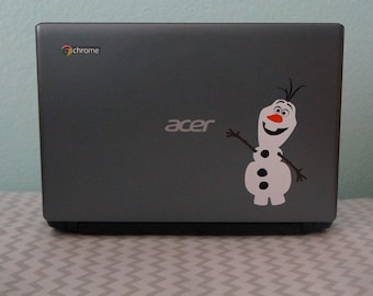 OLAF - FROZEN vinyl decal for Notbooks, Ipads, Lap Tops, Sports Bottles, Party Favors