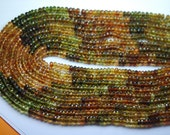 Gems Quality Strand, 14 Inches Strand, AAA Petrol Tourmaline Rondelles Faceted Rondelles 4mm