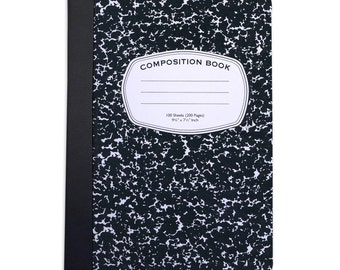 Customizable Old School Composition Book Inspired Folio Case. iPad 2/3/4, iPad Air, iPad Air 2