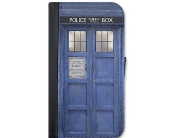 Doctor Who Inspired Tardis Police Box Wallet Case. Choose Samsung Galaxy S3, S4, S5, S6, S6 Edge, S7 or Galaxy S7 Edge.