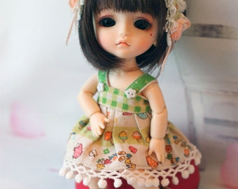 Deer and me outfit set  for lati yellow and pukifee 1/8 bjd dolls (handmade)