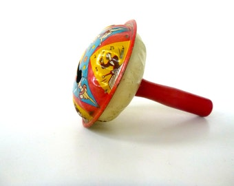 Vintage Tin Noisemaker -- US Metal Toy Manufacturing Co, NY -- Musicians and Dancers