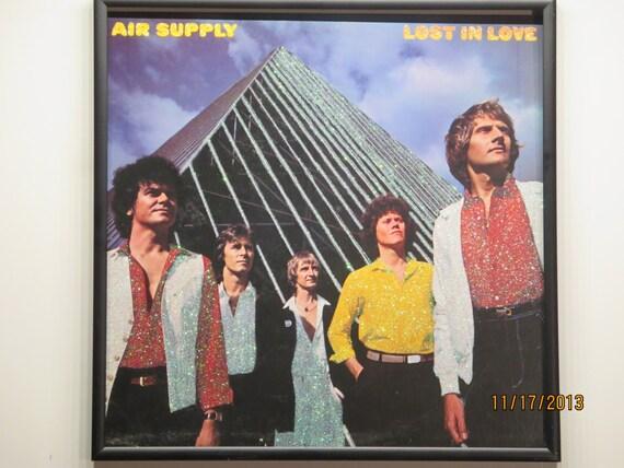 Glittered Record Album - Air Supply - Lost In Love