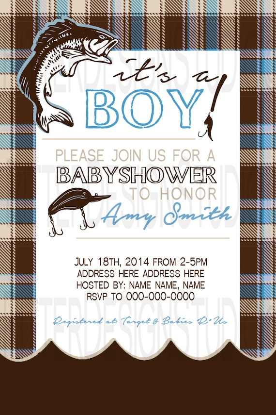 fishing baby shower invitation printable by ritterdesignstudio