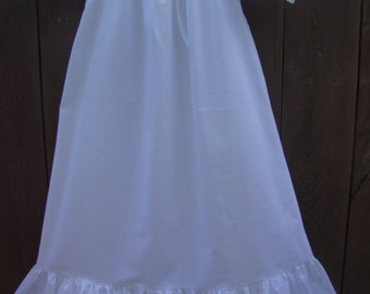 "Girls White Cotton or Flannel Nightgown with option of Matching 18"" Doll Gowns"