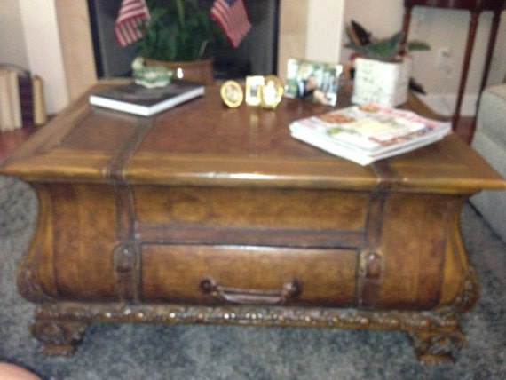 Butler Heritage Bombe Trunk Coffee Table Old World Coffee