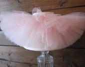 Soft Pink tutu || Short & Sweet Style || baby girl tutu skirt || newborn tutu || flower girl tutu || birthday tutu || nb-3T