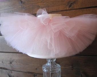 Soft Pink Tutu || Short & Sweet Pale Pink Tutu || baby girl tutu skirt || newborn tutu || flower girl tutu || birthday tutu || nb-4T