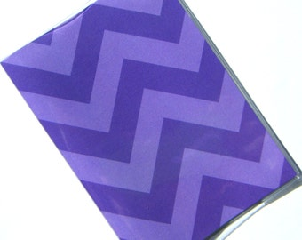 Chevron Passport Cover Case Holder -- Sorbet Purple Two Tone