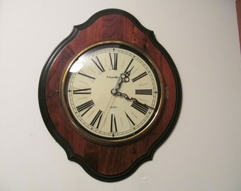 Vintage 18 Quot X 15 Quot Wall Clock By Ethan Allen