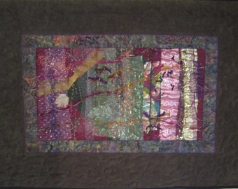 Midnight Forest Art Quilt Wallhanging