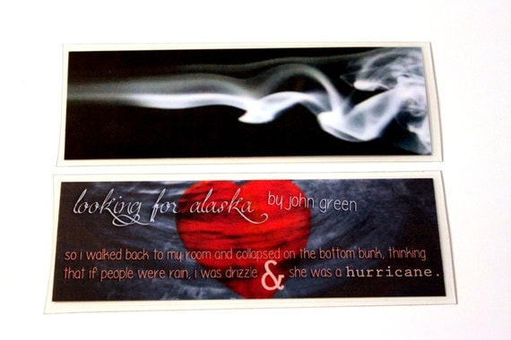 Looking For Alaska Cover: Items Similar To Looking For Alaska Laminated Bookmark 2x6