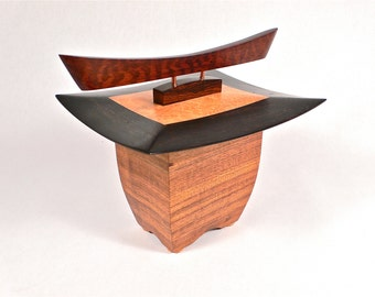 One Of A Kind Sculpted Japanese Pagoda Box