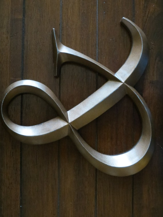 Ampersand symbol wedding sign and symbol sign large wall for Ampersand decoration etsy