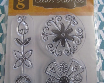 Studio G Clear Flower Stamps
