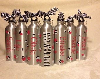 Personalized Aluminum Water Bottles with zebra Perfect for Individuals or Teams