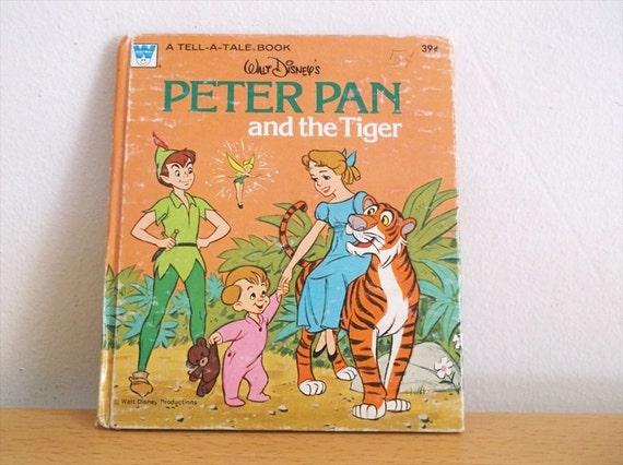 peter pan the tiger disney book 1976 peter by vintageadoption. Black Bedroom Furniture Sets. Home Design Ideas