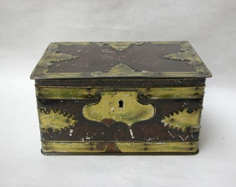 Vintage English Tin Treasure Box